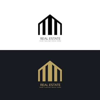 Kreative immobilien logo-design-konzept