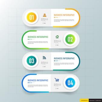 Kreative infografik 4 schritte vorlage
