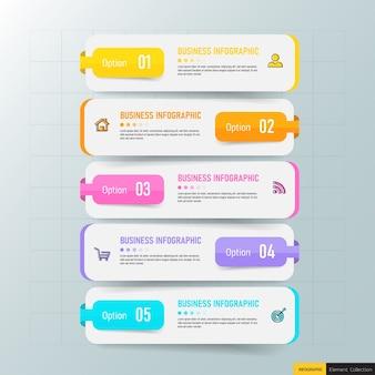 Kreative infografik vorlage in fünf schritten
