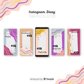 Kreative instagram-storysammlung