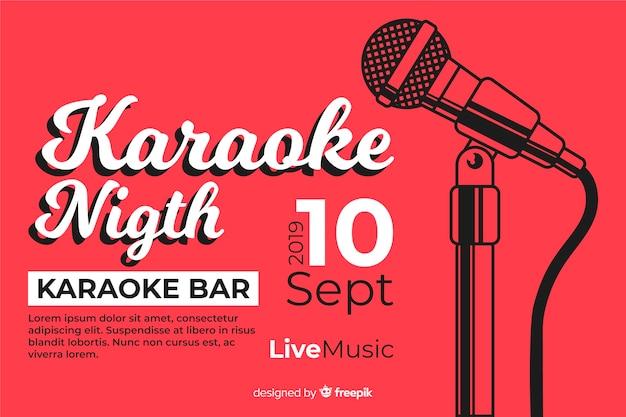 Kreative karaoke party banner vorlage