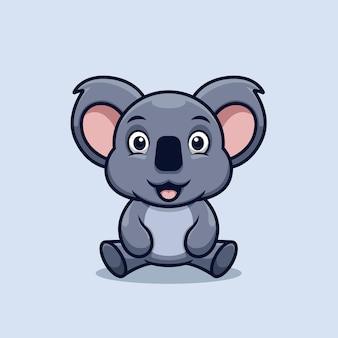Kreative koala niedliche karikatur kawai illustration