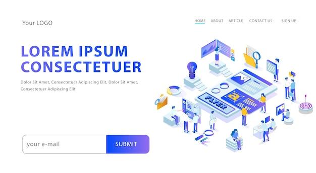 Kreative layouts für web-flyer und blog-seiten