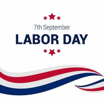 Kreative linien labor day template