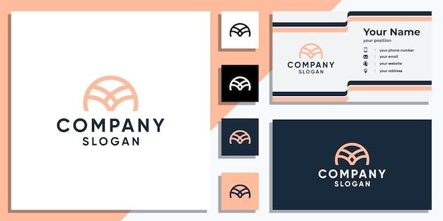 Kreative logo-designvorlage für buchstabe m und visitenkarte