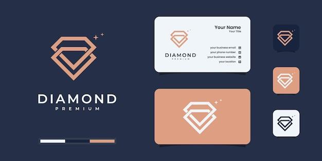 Kreative logo-designvorlage für das diamantkonzept und inspiration für das design von visitenkarten