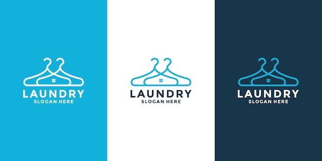 Kreative logo-designvorlage für wäschereien
