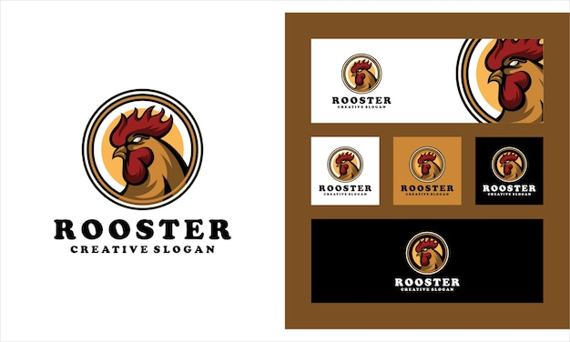 Kreative logo-vorlage des hahn-huhns