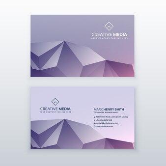 Kreative low-poly-visitenkarte design