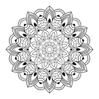 Kreative luxus-mandala-illustration
