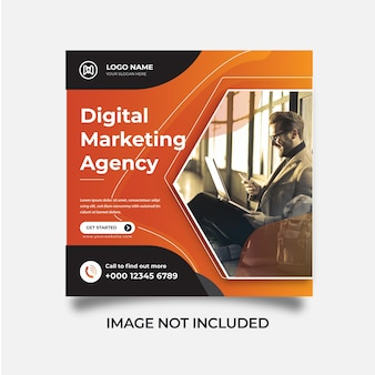 Kreative marketingagentur social media post webbanner instagram post vorlage