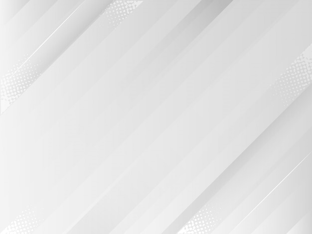 Kreative minimale geometrische mit dynamischen formen abstrakte weiße und graue hintergrundtapete.