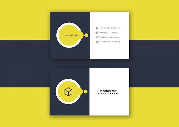 Kreative minimale saubere bunte vektorentwurf corporate design visitenkarte für druck