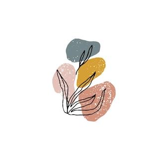 Kreative minimalistische handgemalte illustrationen für die wanddekoration moderne abstrakte kunst