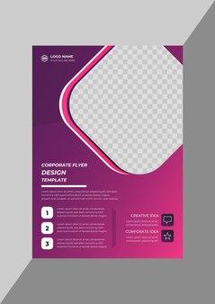 Kreative moderne business-flyer-designvorlage für unternehmen