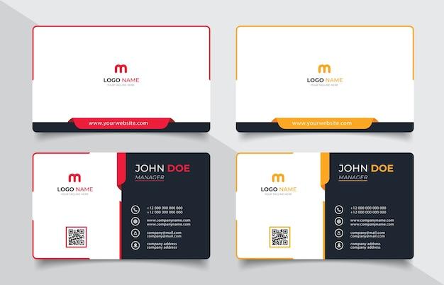 Kreative moderne visitenkarte und visitenkarte