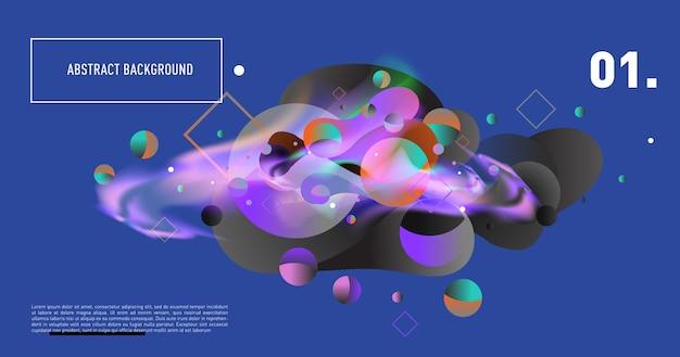 Kreative modische geometrische steigung formt hintergrund