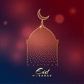 Kreative Moschee Design für Eid Mubarak Festival