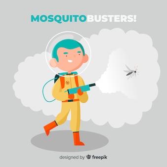 Kreative mückenbekämpfung hintergrund