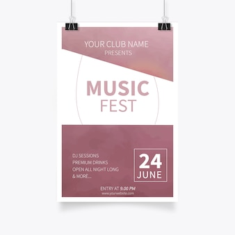 Kreative musik party flyer