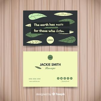Kreative natur konzept visitenkarte