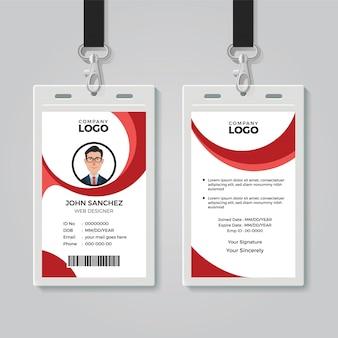 Kreative office-ausweisvorlage