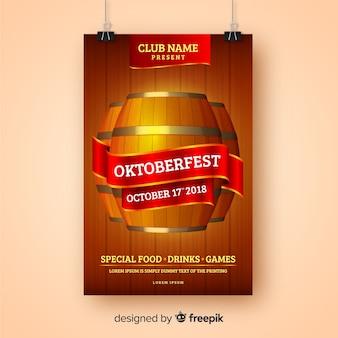 Kreative oktoberfest-cover-vorlage