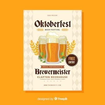 Kreative oktoberfest-flyer vorlage