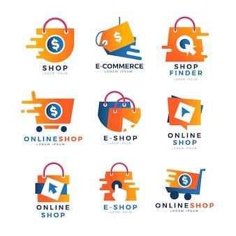 Kreative online-shop-logo-vorlagen