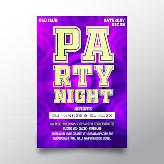 Kreative plakatschablone der partynacht