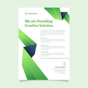 Kreative präsentation der unternehmensstrategie