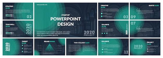Kreative präsentationsvorlage vektor-design Premium Vektoren