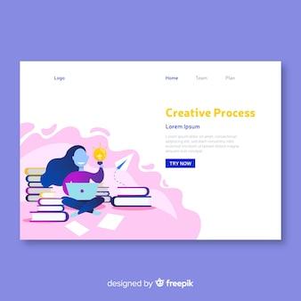 Kreative prozesskonzept landing-page-vorlage