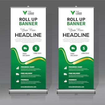 Kreative roll-up-banner-design-vorlage