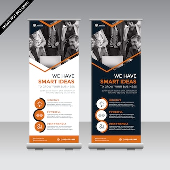 Kreative roll-up-banner-vorlage