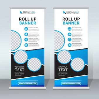 Kreative roll-up-banner-vorlage