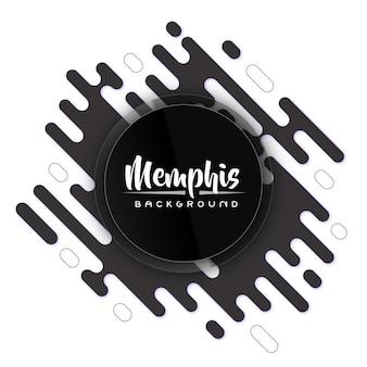 Kreative rückseite und weißer moderner memphis-fahnen-hintergrund