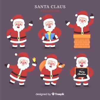 Kreative sammlung von santa-figuren