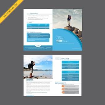 Kreative saubere touristische broschüre design-vorlage