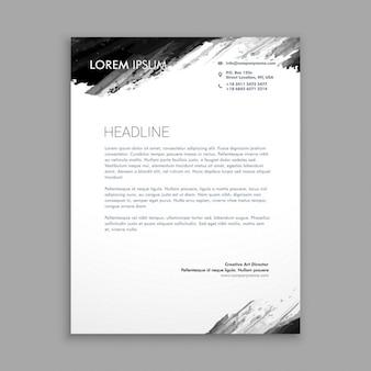 Kreative schwarze tinte briefpapier-design