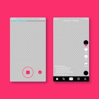 Kreative social media app-oberfläche