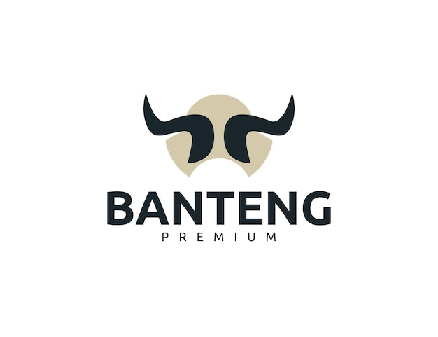 Kreative starke stierhorn-logo-design-vorlage