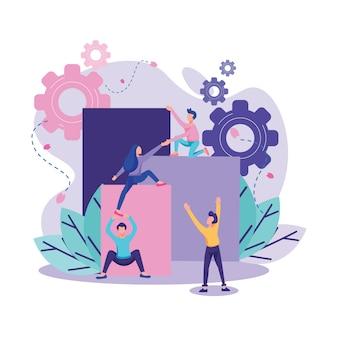 Kreative teamarbeit