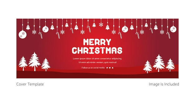 Kreative titelseitengestaltung von frohe weihnachten