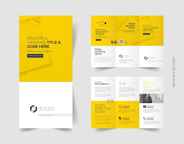 Kreative trifold-broschüre