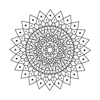Kreative umriss vektor mandala