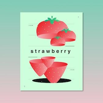 Kreative und abstrakte illustration von erdbeeren