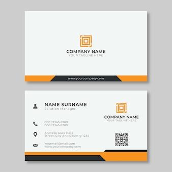 Kreative und einfache visitenkarte für unternehmen