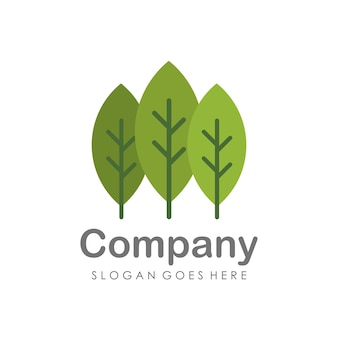 Kreative und einzigartige baum-logo-design-vorlage