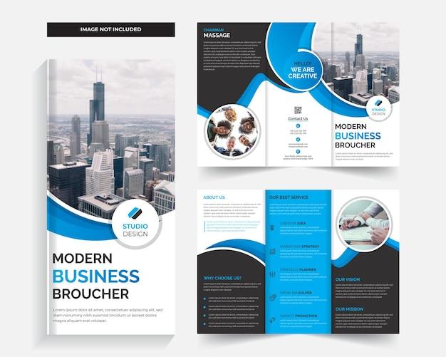Kreative und moderne dreifach gefaltete broschürenvorlage